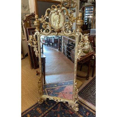 Mirror In Golden Wood 156 Cm Napoleon III Nineteenth