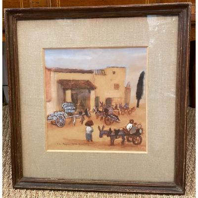 Watercolor Via Appia 1936 By Douking