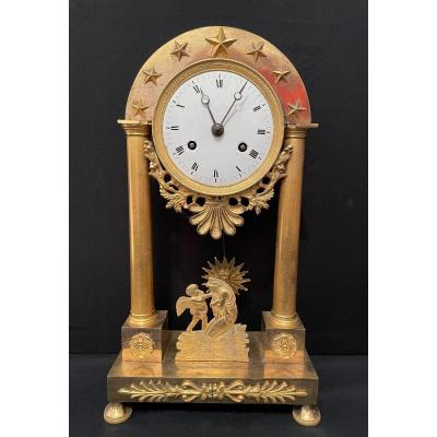 Pendulum Directory Gilt Bronze Psyche And Love Nineteenth Century