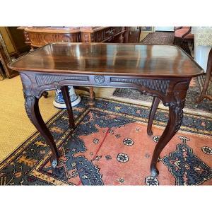 Small Louis XV Mahogany Table In Cabaret Eighteenth Century