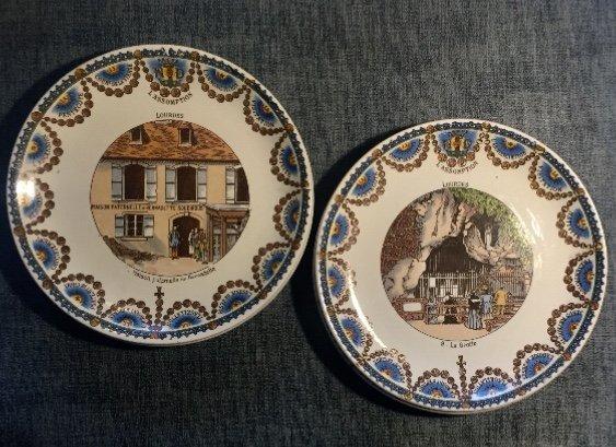Suite De 12 Assiettes Parlantes XIXème. Lourdes.-photo-3