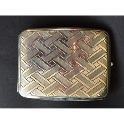 Cards Or Cigarettes Holder. Art Deco. Silver.