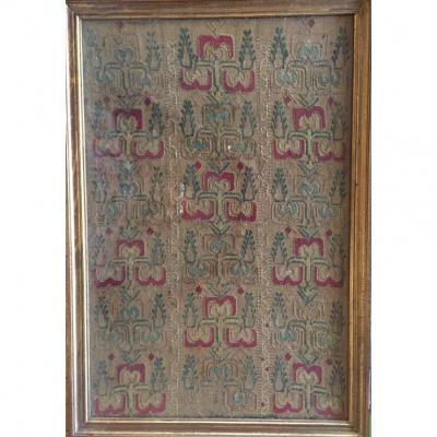 Tissu Brodé. Moyen-orient. XIXème.