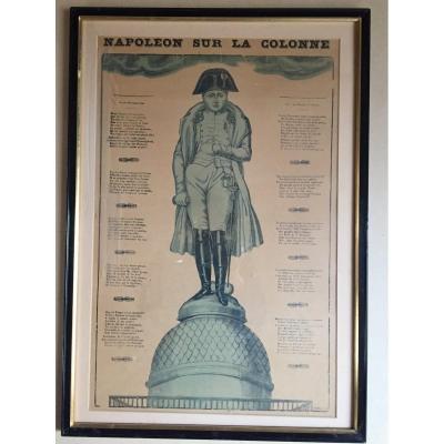 «Napoléon Sur La Colonne». Gravure. Vers 1833.