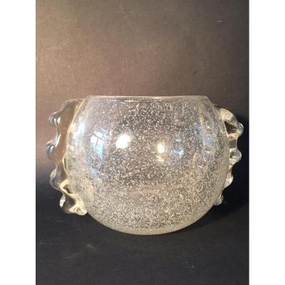 Art Deco Thick Bubbled Glass.