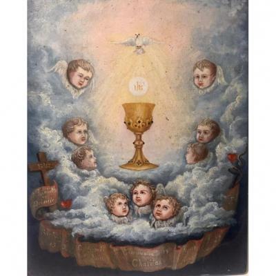 Ex Voto. 1888. Baptism. Communion. Elisabeth De Préville.