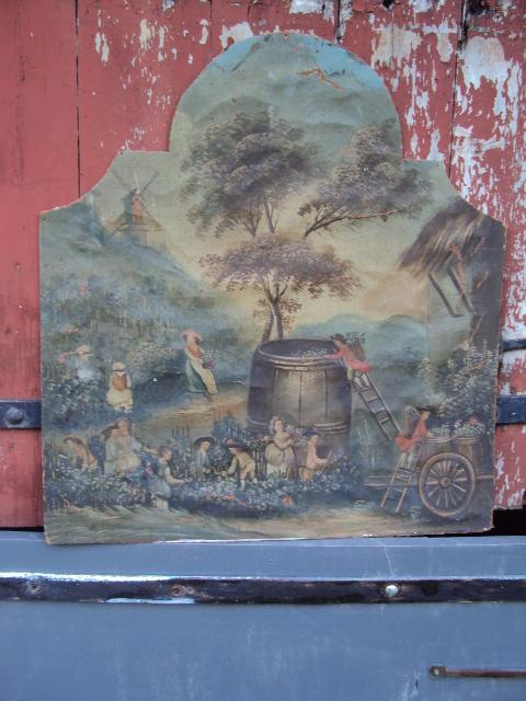 Oil On Canvas Glued On Cardboard 18 Th