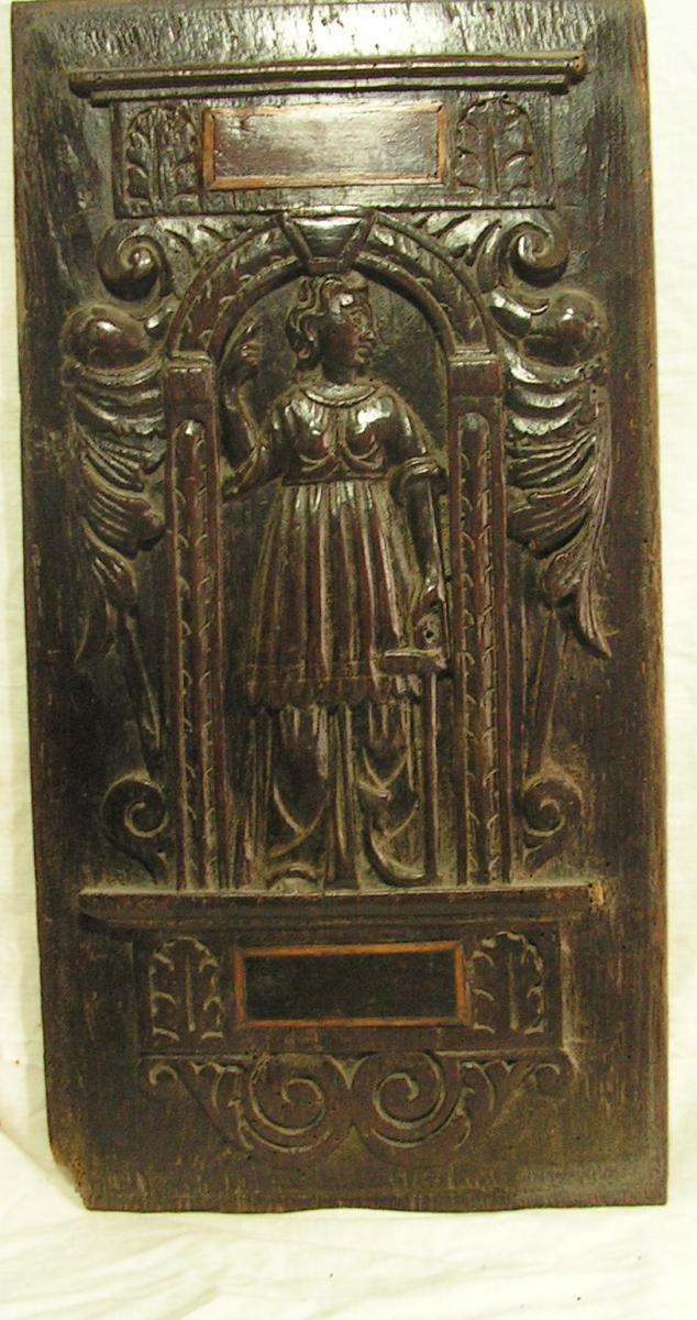 Panneau sculpté haute époque XVI éme