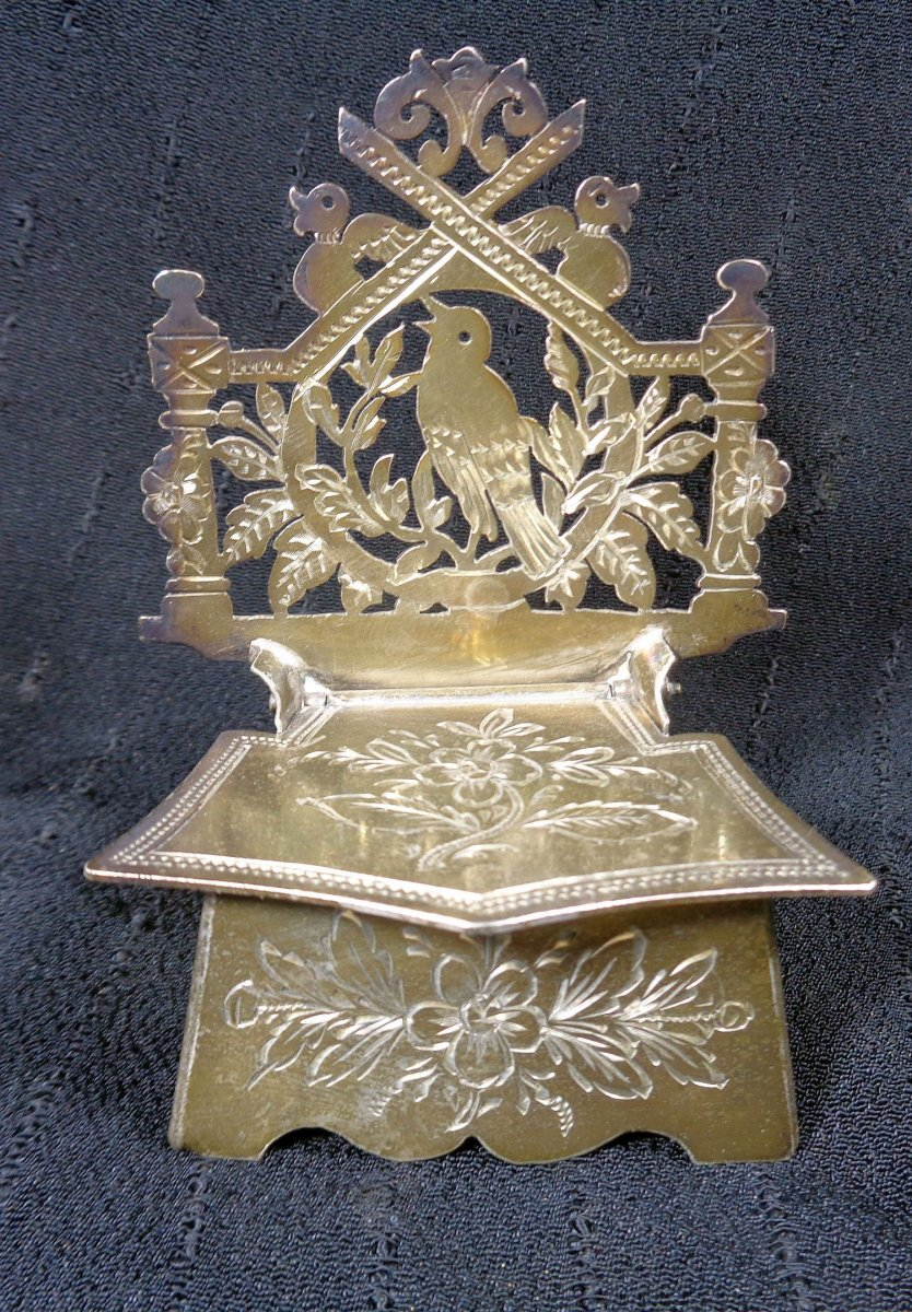 Boite à sel en argent .Russie XIXéme siècle Nicholai Rukavishnikov. Kostroma