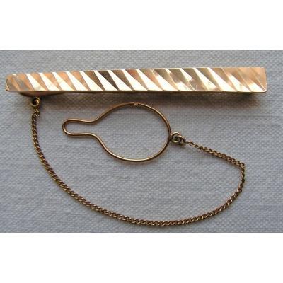 Pince à cravate en or jaune 18kt (carat), Vintage.