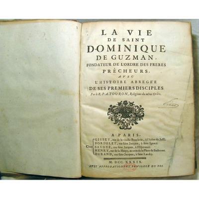 """La Vie de Saint Dominique de Guzman, fondateur des """"Dominicains""""."""