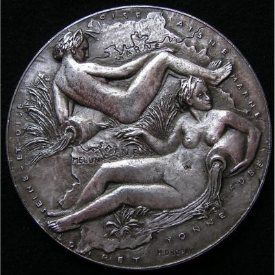 Médaille argent, département Seine et Marne, Maurice Lalloy, Sénateur