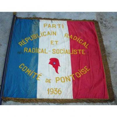 Flag Of The Radical And Radical-socialist Republican Party 1936