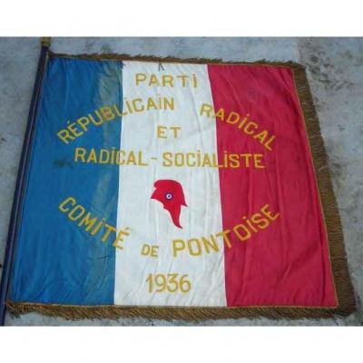 Drapeau du Parti Républicain Radical et Radical-socialiste de 1936