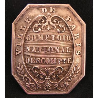 Trade Plate: National Discount Counter City Of Paris