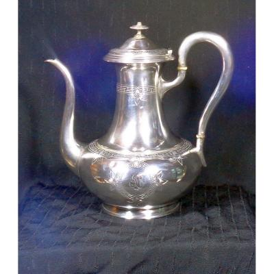 Solid Silver Teapot By Emile Hugo 1853 - 1880