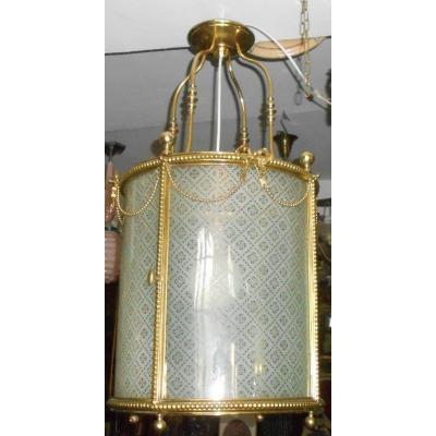 """""""very Important Bronze Lantern, Known As A Louis XVI Style"""" Vestibule Lantern """"."""