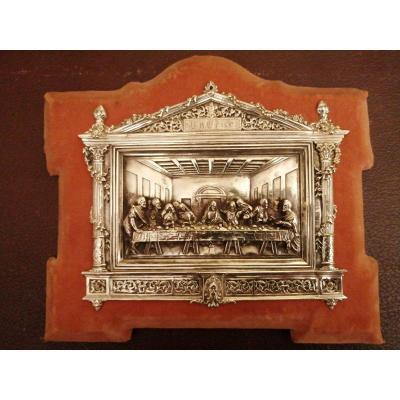 La Cène de L de Vinci, plaque argentée