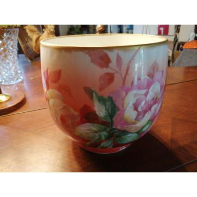 Cache Pot Porcelaine De Limoges Circa 1920