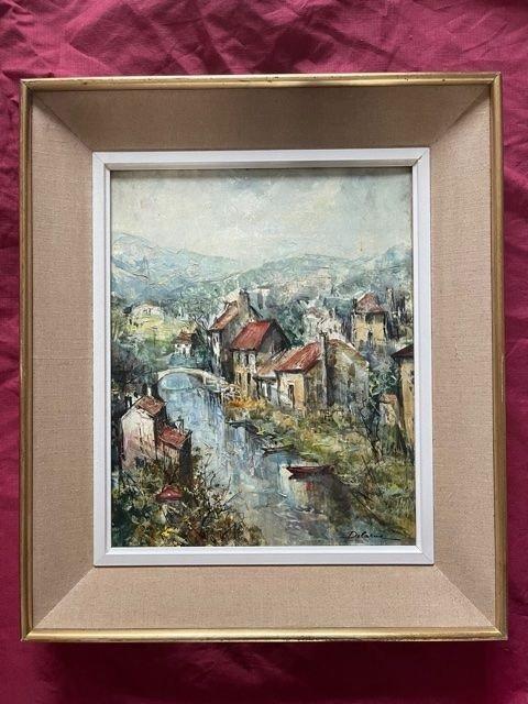 Table Oil On Canvas Lucien Delarue 1925 - 2011