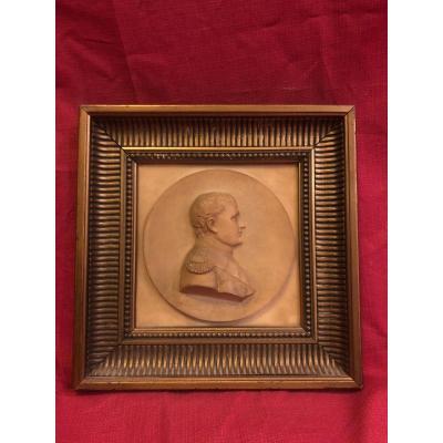 Tableau Portrait Napoleon Bonaparte Pierre Sculptee XIX ème