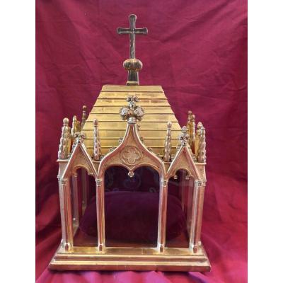Reliquary Hunting Wood Dore Chapel Neo Gothic XIX Eme
