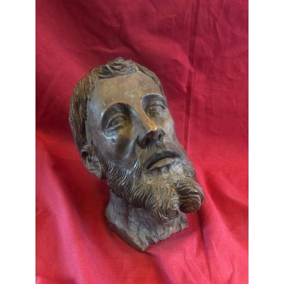 Scupture Tete De Christ XIX Eme