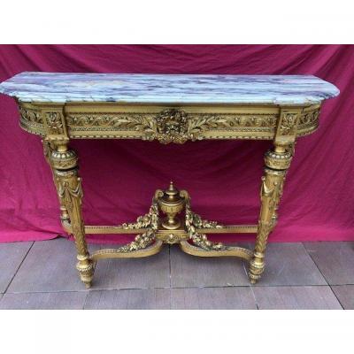 Imposing Wooden Console Dore Napoleon III Period