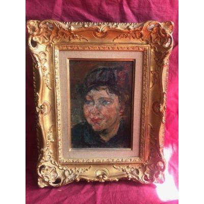 Michel Kikoine 1892-1968 Painting School Of Paris Portrait