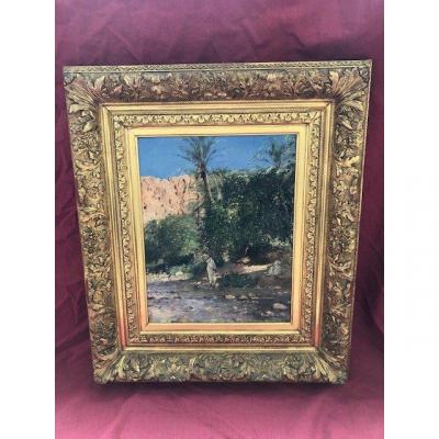 Orientalist Painting Maurice Bompard