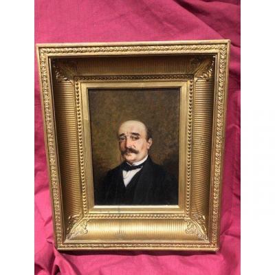 Portrait Painting Honore Chapuis 1817-1896