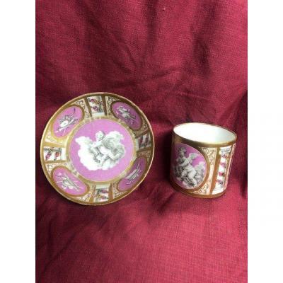 Tasse Litron Porcelaine Paris XIX Eme