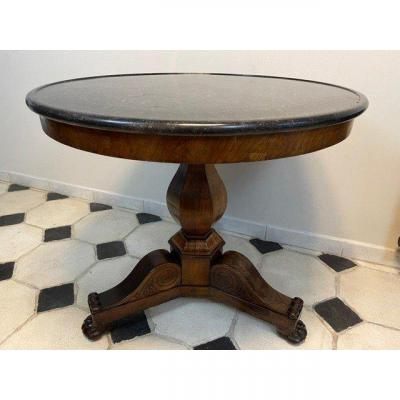 19th Empire Period Pedestal Table