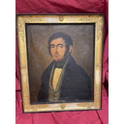 Tableau Portrait Huile Sur Toile Empire