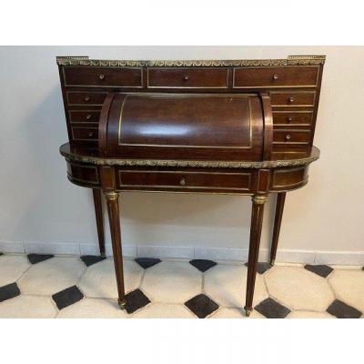 Bonheur Du Jour Style Louis XVI Acajou époque Napoleon III XIX Eme