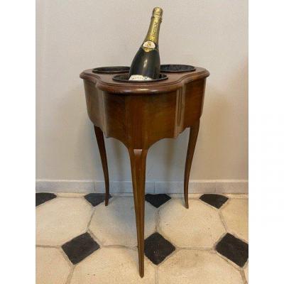Table Rafraîchissoir Estampillée André Mailfert style Louis XV