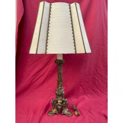 Art Nouveau Bronze Lamp 1900
