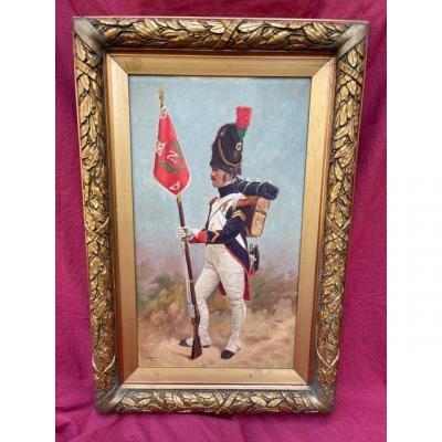 Grand Tableau Grenadier De La Garde Impériale De l'Empereur Napoléon 1er
