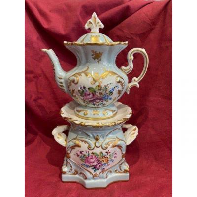 Tisanière Théière Porcelaine De Paris Style Louis XV