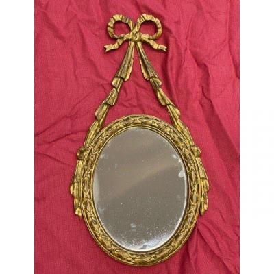Miroir Mural de Style Louis XVI FIN XIX EME