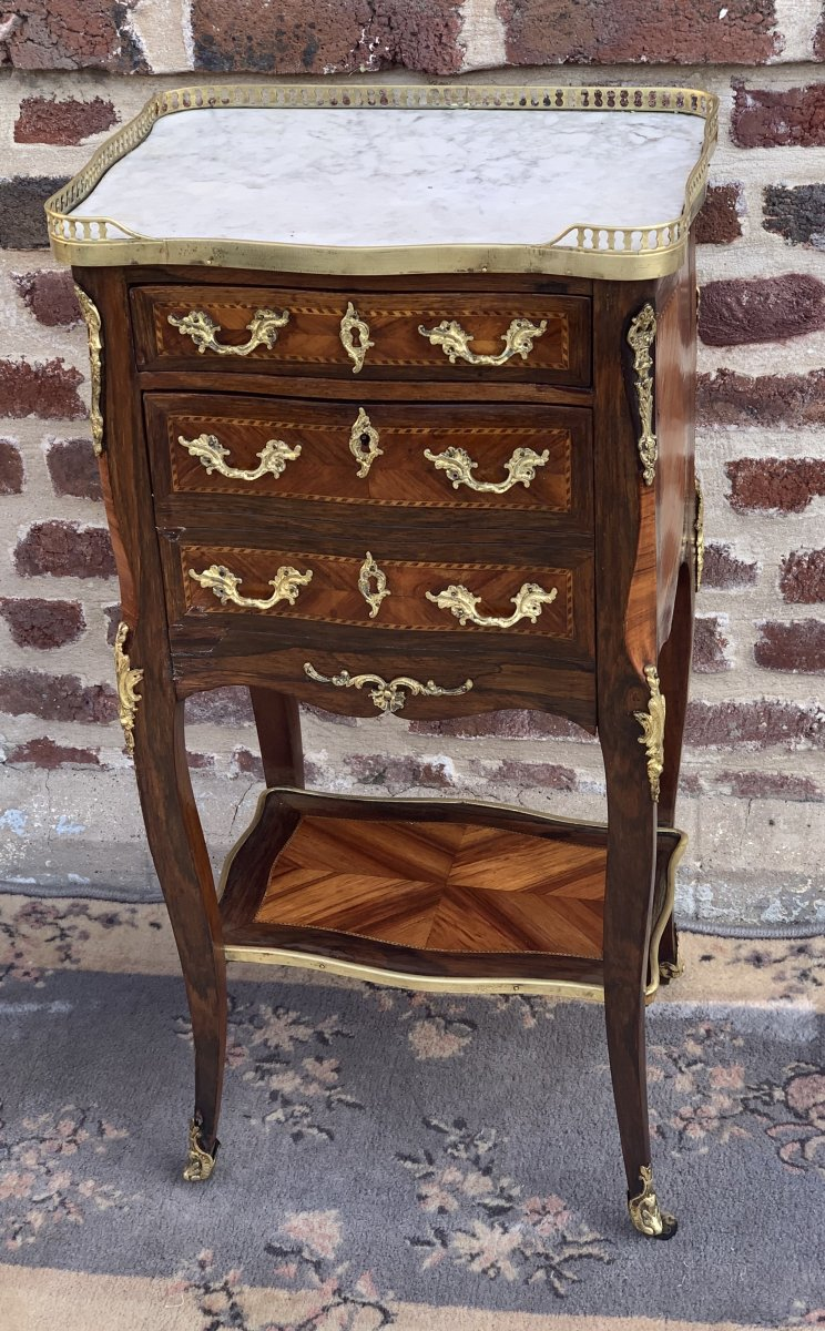 Napoléon III Marquetry Chiffoniere Table