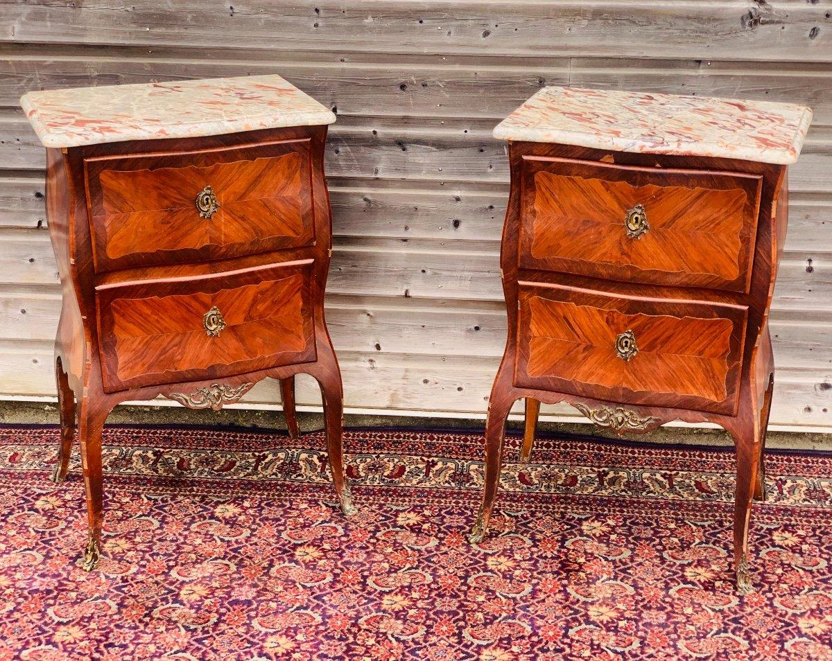 Rare paire de commode d'époque louis XV attribué à Jean Popsel