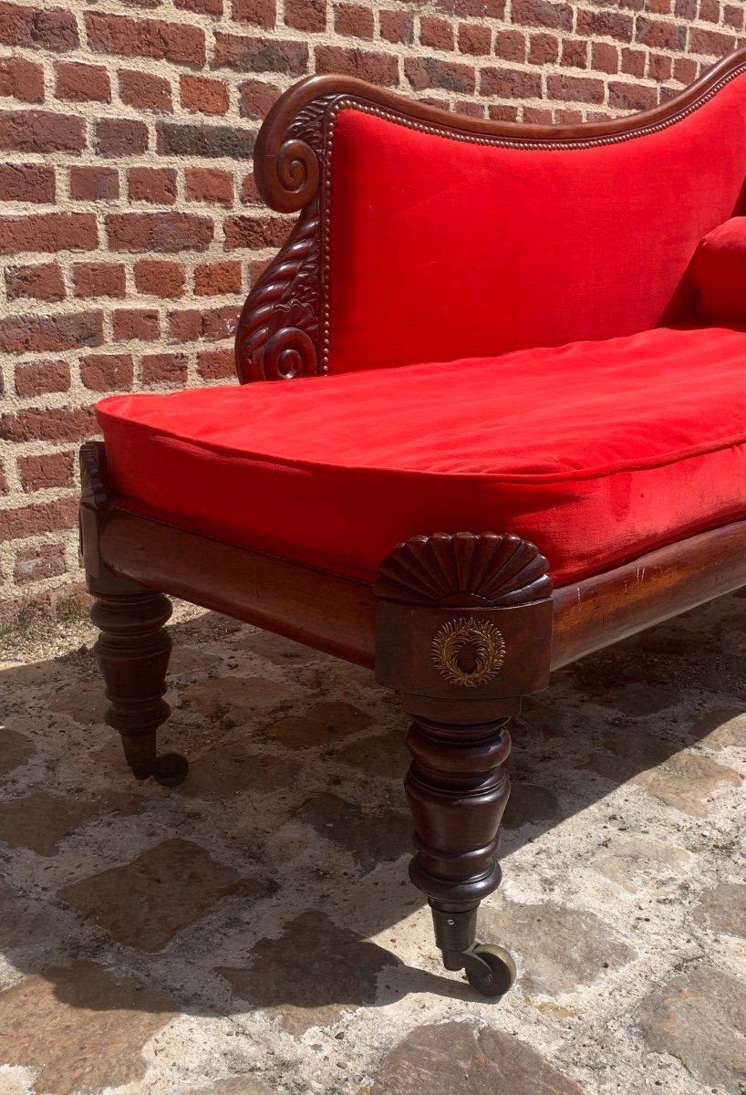 Mahogany Chaise Longue Restoration Circa 1815-photo-4