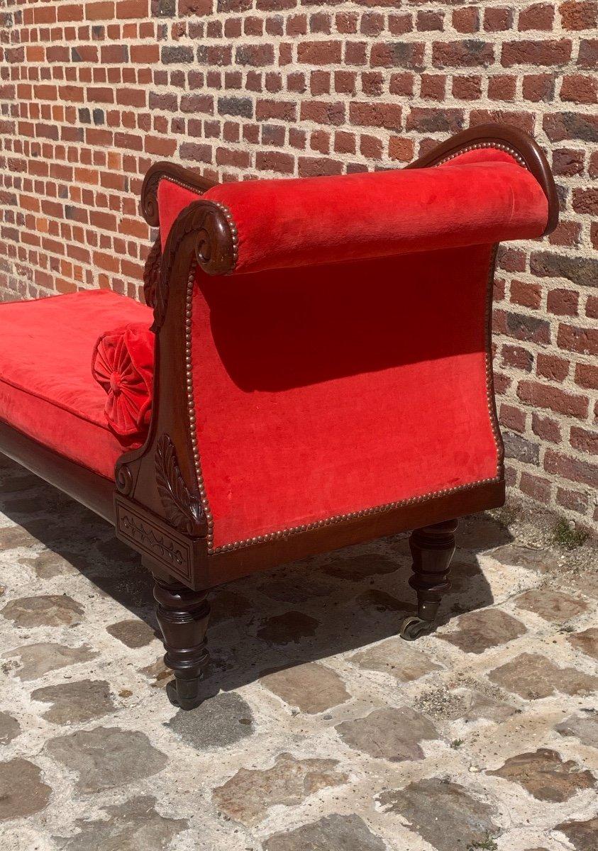 Mahogany Chaise Longue Restoration Circa 1815-photo-5