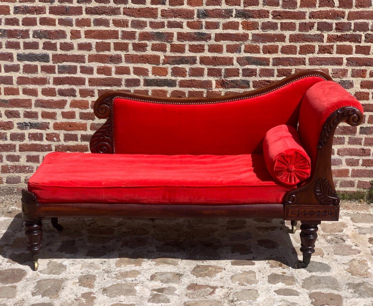 Mahogany Chaise Longue Restoration Circa 1815