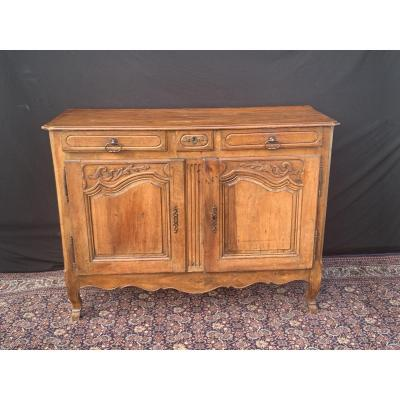 Walnut Sideboard Two Walnut Louis XV XIXth