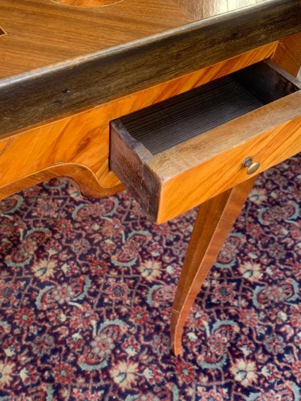 Table tric - trac en marqueterie d'époque louis XV-photo-4
