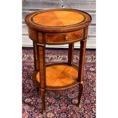 Table De Salon En Marqueterie Style Transition D'époque XIX éme