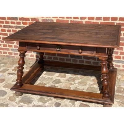 Table Changer In Walnut Swiss Work XIX Th Century