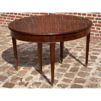 Six-foot Mahogany Table With Directoire Period Band